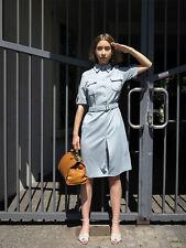 Uniform Kleid military 60er True VINTAGE 60s women GDR uniform dress light grey