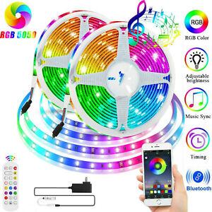 32-8-ft-RGB-5050-Bluetooth-Led-Strip-Lights-SMD-24-Key-Remote-12V-DC-Power-Kit