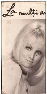B36602 Acteurs Actors Mylene Demongeot 9x6 cm calendar 1972