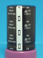 Electrolytic Capacitor Panasonic 2 Pcs 560uf 400v Snap In Can Guitar