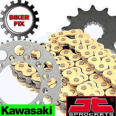 Kawasaki  KLX250 S FW 9F,WAF 09-10 GOLD HDR Chain and Sprocket Set Kit