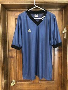 Details about Vintage Flag Tag Three Stripe Adidas Soccer Jersey Shirt, Men M Medium Blue