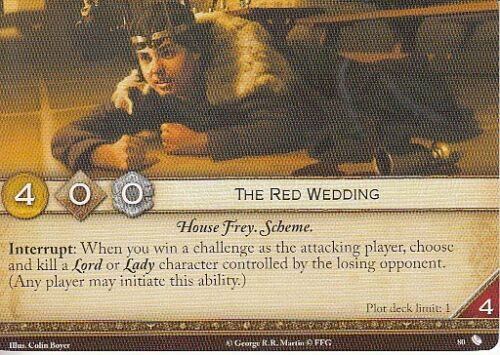 3 x The Red Wedding AGoT LCG 2.0 Game of Thrones The Red Wedding 80