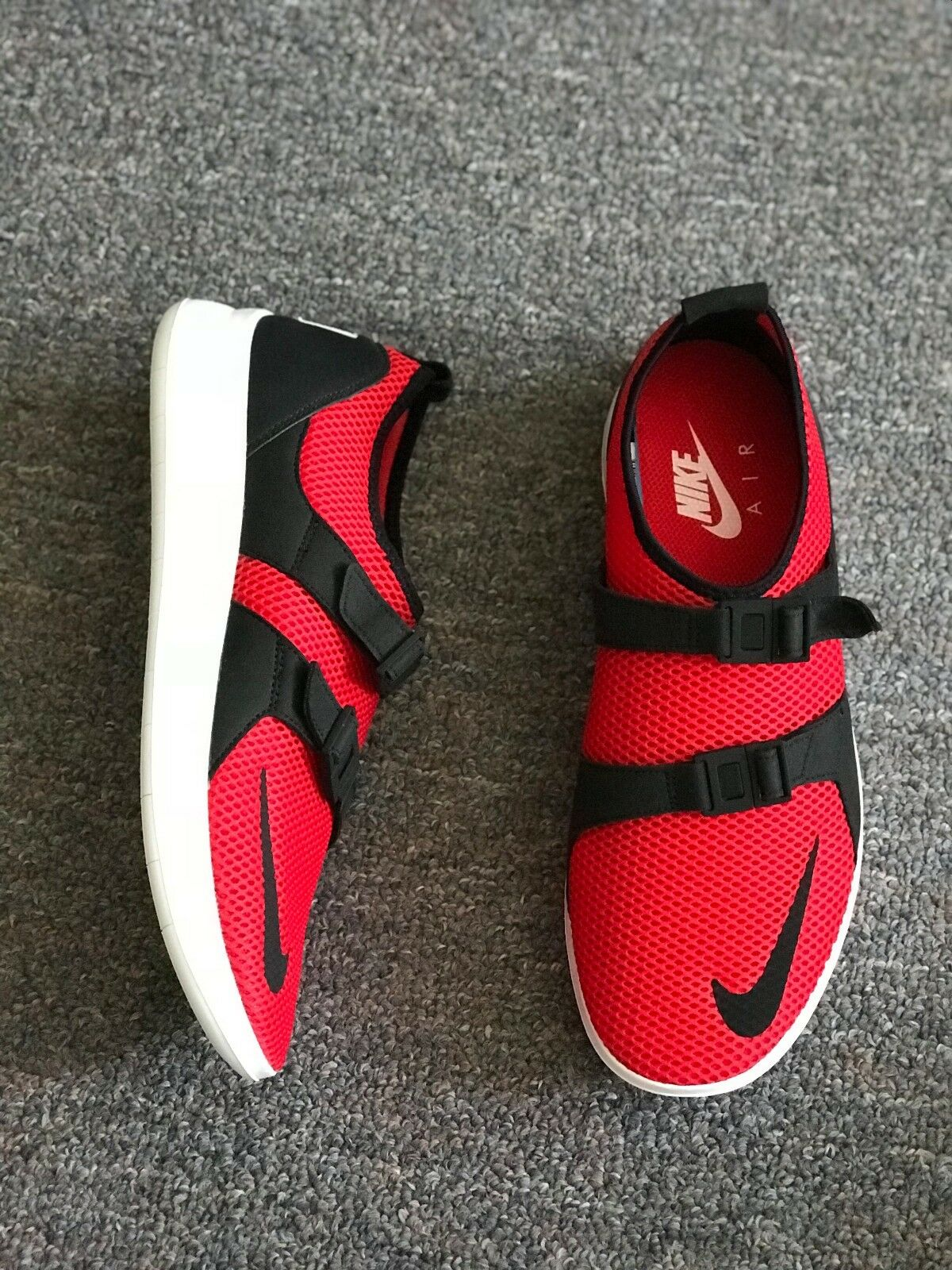 Nike air sock racer sz 9 scarpe campione rosso - nero 918244 600 flyknit dardo