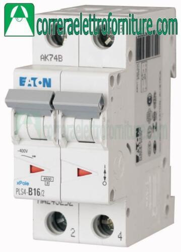 Interruttore magnetotermico 2P 16A 2 moduli 4,5KA EATON 243278