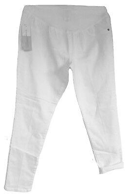 Liz Lange Womens Maternity White Jeans Skinny Ankle Pants Over The Belly Xxl 18 Ebay