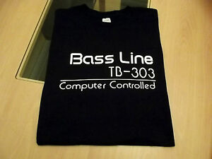 RETRO-T-SHIRT-SYNTH-DESIGN-TB-303-BASS-LINE-SYNTH-S-M-L-XL-XXL