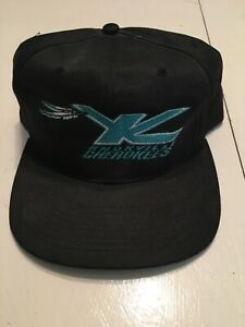 Vintage-Bacon-Sports-Knoxville-Cherokees-Snapback-Hat-Black