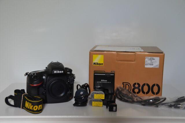 Nikon D800 36.3 MP Digital SLR Camera - Black with BONUS extras
