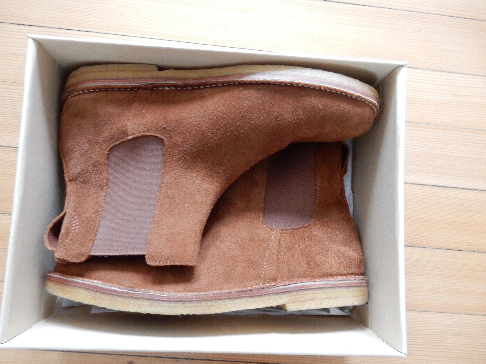 Folk Inglaterra 45 botas botas botín gamuza cuero naturkrepp elastikeinsatz