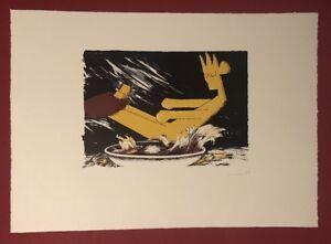 Dirk-Larsen-Regal-perspective-Farblithographie-1986-handsigniert-und-datiert