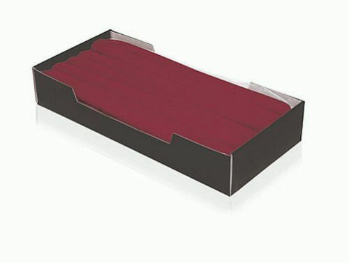 50x Leuchterkerzen 250x25 Bordeaux Rot Tafelkerzen Spitzkerzen RAL Qualität