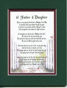 Details about A Birthday Gift Present Poem For A Dad Father And Or Daughter  #21