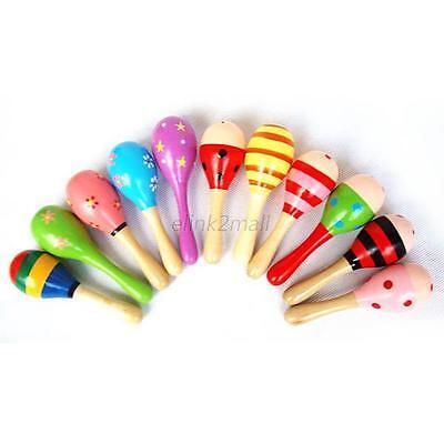Kids Baby Wooden Toys Musical Toys Infant Sand Hammer Rattles Development Gift