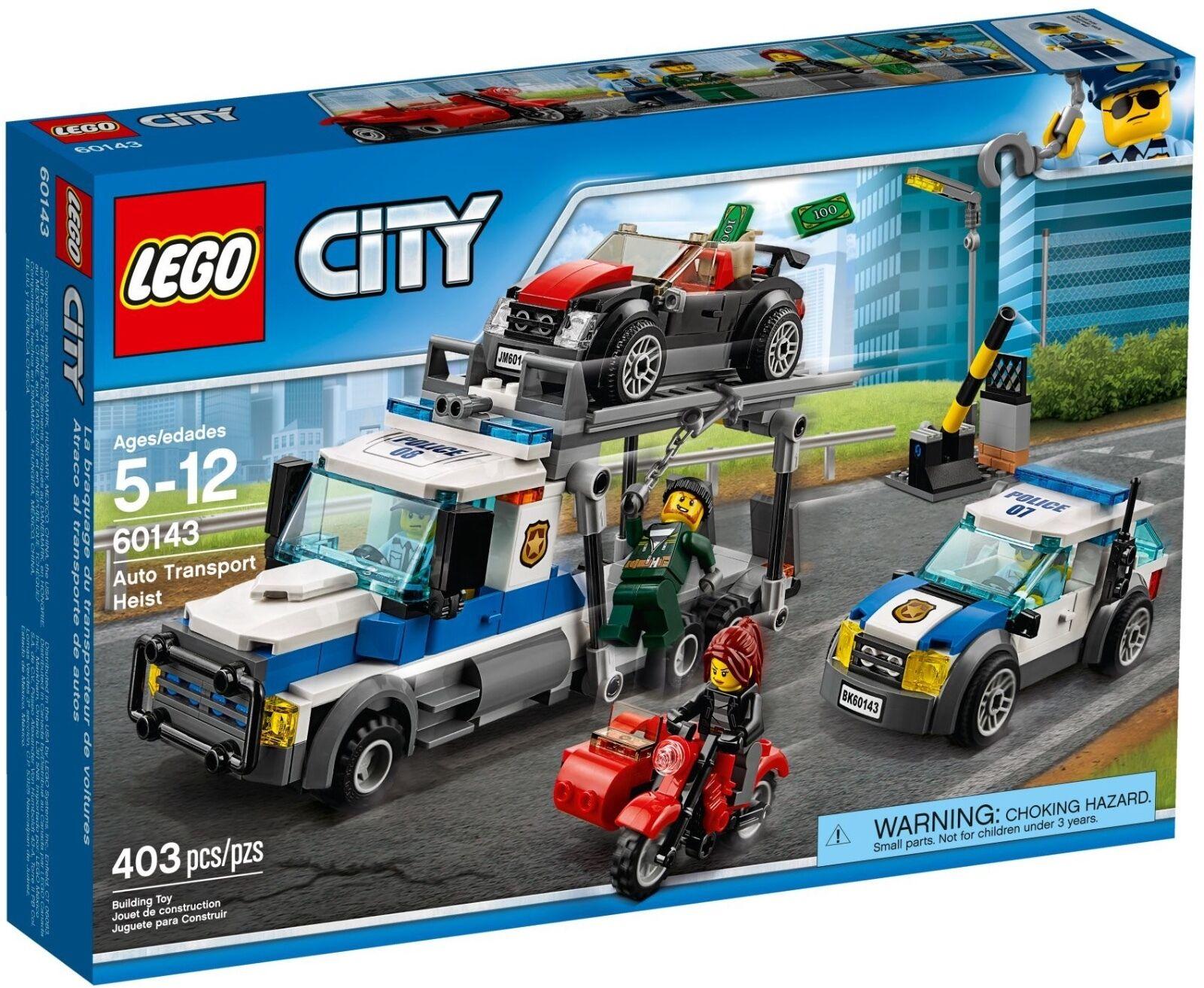 LEGO ® City 60143 Raid sur porte voitures neuf neuf dans sa boîte _ voiture transport s'appelle New