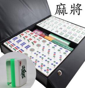 高級壓克力麻將 Chinese Numbered Large Tiles Mahjong Set Board