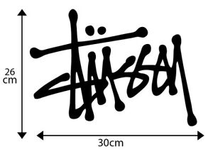 X2 BIG /'THRASHER/' Vinyl Decal Sticker Snowboard Car Skate Motocross 30cm x 9cm