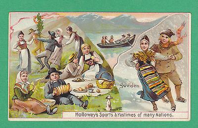 THOMAS  HOLLOWAY  LTD.  -  RARE SPORTS & PASTIMES CARD  -  SWEDEN  -  1900
