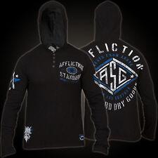 Mens XXL AFFLICTION TRANSPORTER Seek Destroy NEW Button Up Hooded T shirt NEW