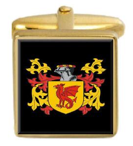 Alday Angleterre Famille Cimier Nom De Armoiries Or Boutons Manchette Gravé Ldd96zwd-08003742-238393717