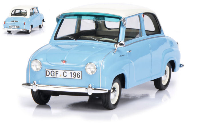 Goggomobil 1955 Light bleu W blanc Roof 1 18 Model 0096 SCHUCO