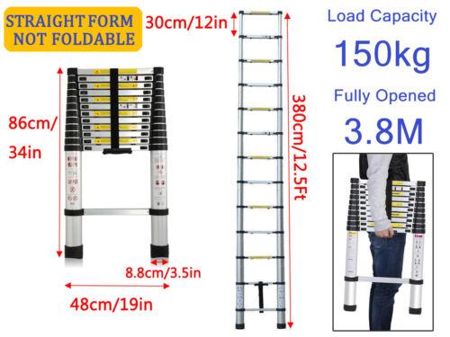 12.5//16.5ft 3.8M Telescopic Folding Ladder Aluminum Extendable 16 Step DIY Tool