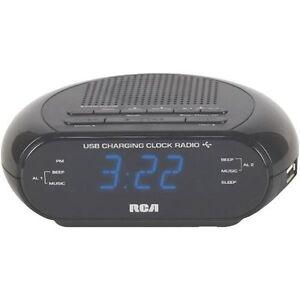 usb dual alarm clock radio battery backup free. Black Bedroom Furniture Sets. Home Design Ideas