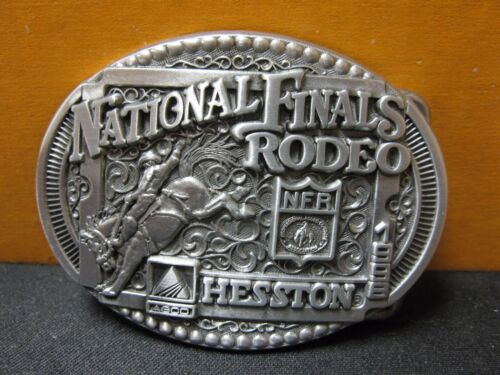 Vintage 1998 Hesston National Finals Rodeo Youth Size Belt Buckle FREE SHIPPING!