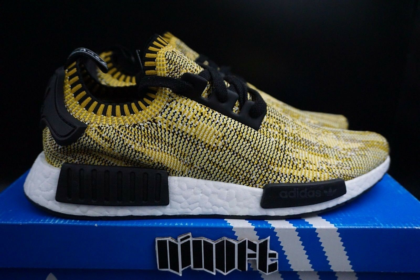 new products 8f77f 58161 Adidas NMD R1 PK Yellow gold Camo SAMPLE S42131 NEW