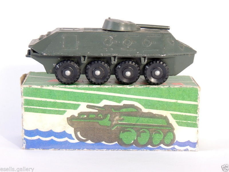 Metal Tank Vintage Soviet Red Army Military Iron Kids Tin Toy Christmas Gift WW2