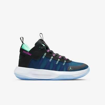 Scarpe da basket ragazzi Nike Jordan Jumpman 2020 GS tela nero verde BQ3451 005   eBay