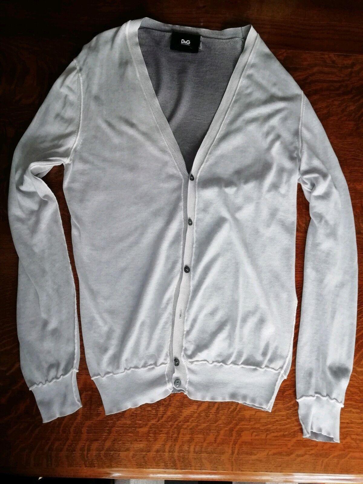 D & G Cardigan Light Grey Size 50 -