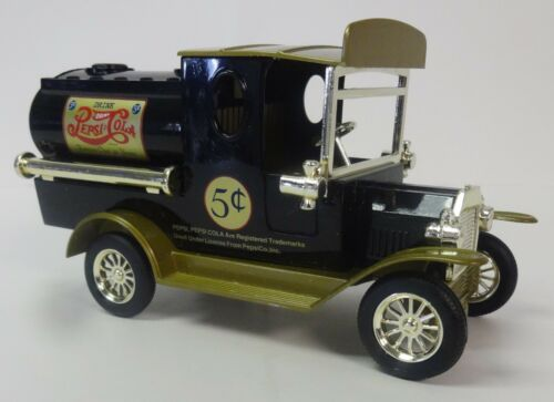 Golden Wheel 1925 Ford T Pepsi Delivery Tanker Truck Diecast Coin Bank 1:24 NIB
