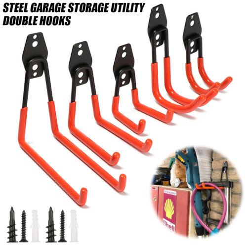 Ladder Wall Mounted Holder Hanger Rack Garage Storage Hooks Organizer Tool