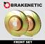 BRAKENETIC SPORT SLOTTED Brake Rotors BNS46076.SS EVO X 10 FRONT SET