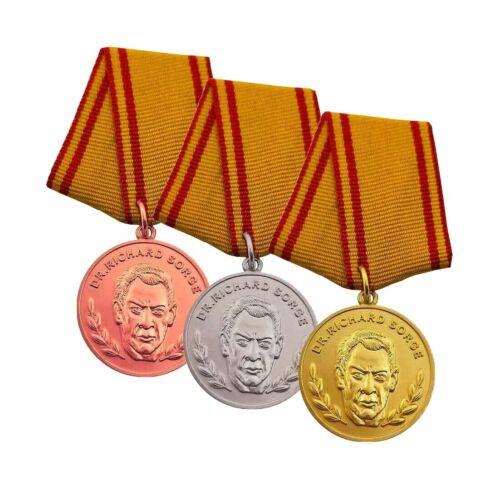 DDR-Orden NVA Bruderarmee GDR Set Richard-Sorge-Medaille für Kampfverdienste