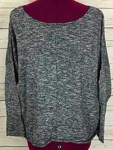 Zara-Knitwear-Collection-Gray-Heather-Baggy-3-4-Sleeve-Hi-Low-Sweater-Size-M-NWT