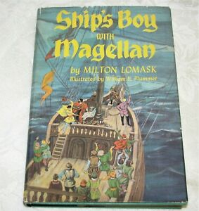 Ship-039-s-Boy-with-Magellan-by-Milton-Lomask-1st-Edition-with-dust-jacket
