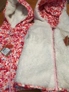 Baby & Toddler Clothing Outerwear Honest Joules Baby Cosette Reversible Fleece Jacket Coat 6-9 9-12 Rrp£35.95 Freeukp&p