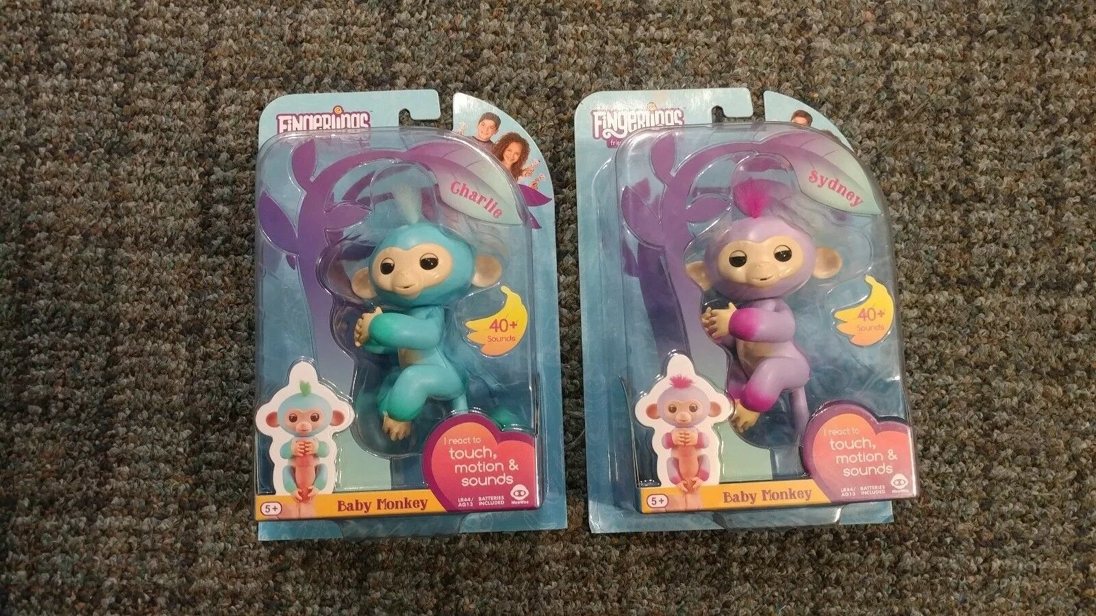 Fingerlings Sydney Charlie pink bluee purple two-tone