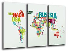 Cuadro Moderno Fotografico Mapa Mundial base madera, 87 x 62 cm ref. 26225