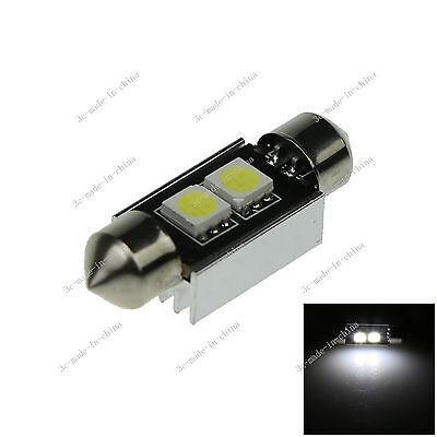 1X White 36MM 2 5050 Canbus Error Free Festoon Dome LED Light Roof Bulb I119