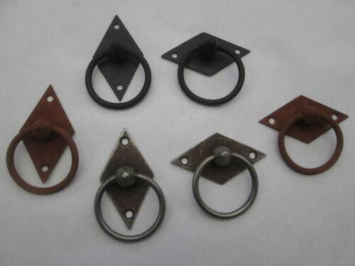 Vintage ancien style forgé main Poignée Armoire Cabinet anneau tiroir de bureau etc