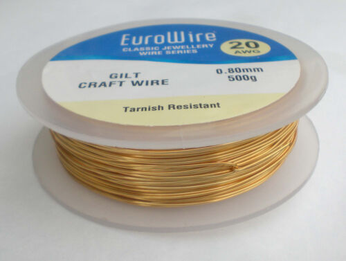 Couleur or couleur fil de cuivre 0.8mm 20 gauge 500 grammes-haute qualité 111m