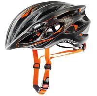 Uvex Race 1 Pro Cycle Helmet Road Racing Bike Black Orange 55-59 Cms