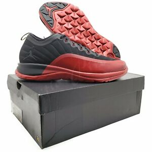 Nike-Air-Jordan-Men-039-s-Size-12-Trainer-Prime-039-Flu-Game-034-Black-Gym-Red-881463-060