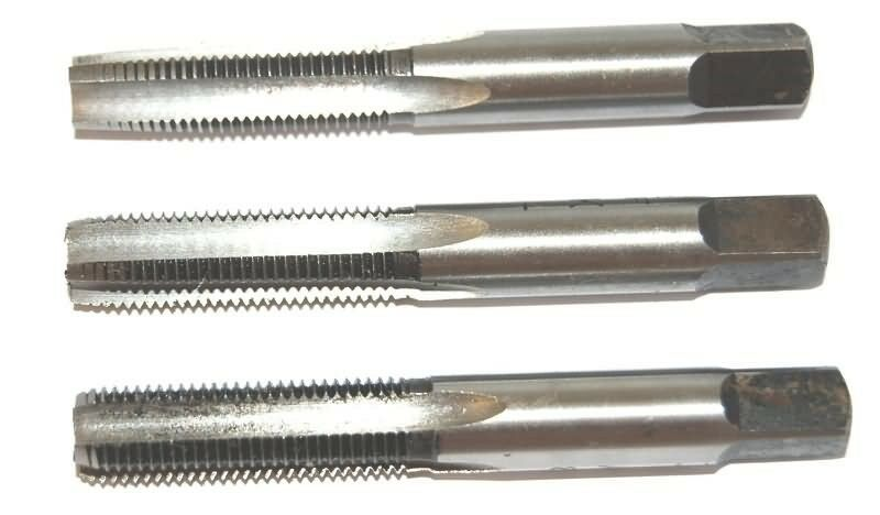 1 X 8 HSS TAPS - TAPER SECOND & PLUG - BRITISH  APEX THREADING TOOL