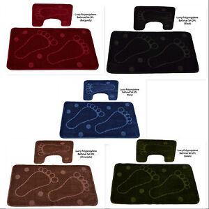 Polypropylène Antidérapante Pieds Design Tapis De Bain & Pedastal Mat Set 02 Pieces-afficher Le Titre D'origine