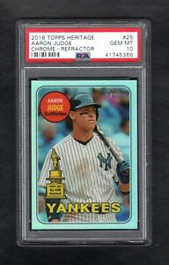 2018-Topps-Heritage-25-AARON-JUDGE-569-Chrome-Refractor-PSA-10-GEM-MINT