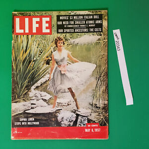 Life magazine Sophia Loren may 6 1957 Marylin Monroe Jack Kennedy into Hollywood